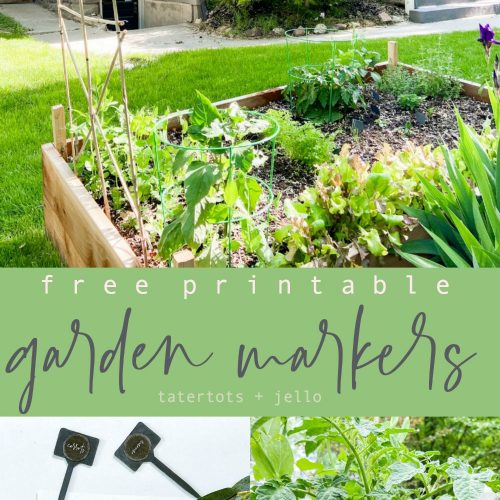 Free Printable Garden Markers Tatertots and Jello
