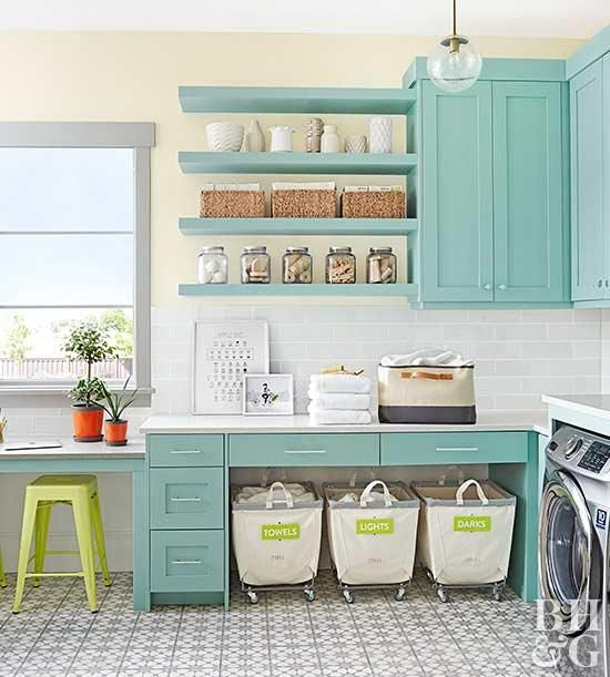 7 Genius Ways to Bring Storage into a Small Laundry Room! Pack a lot of style and storage into a small space with these inspiring laundry room storage ideas.
