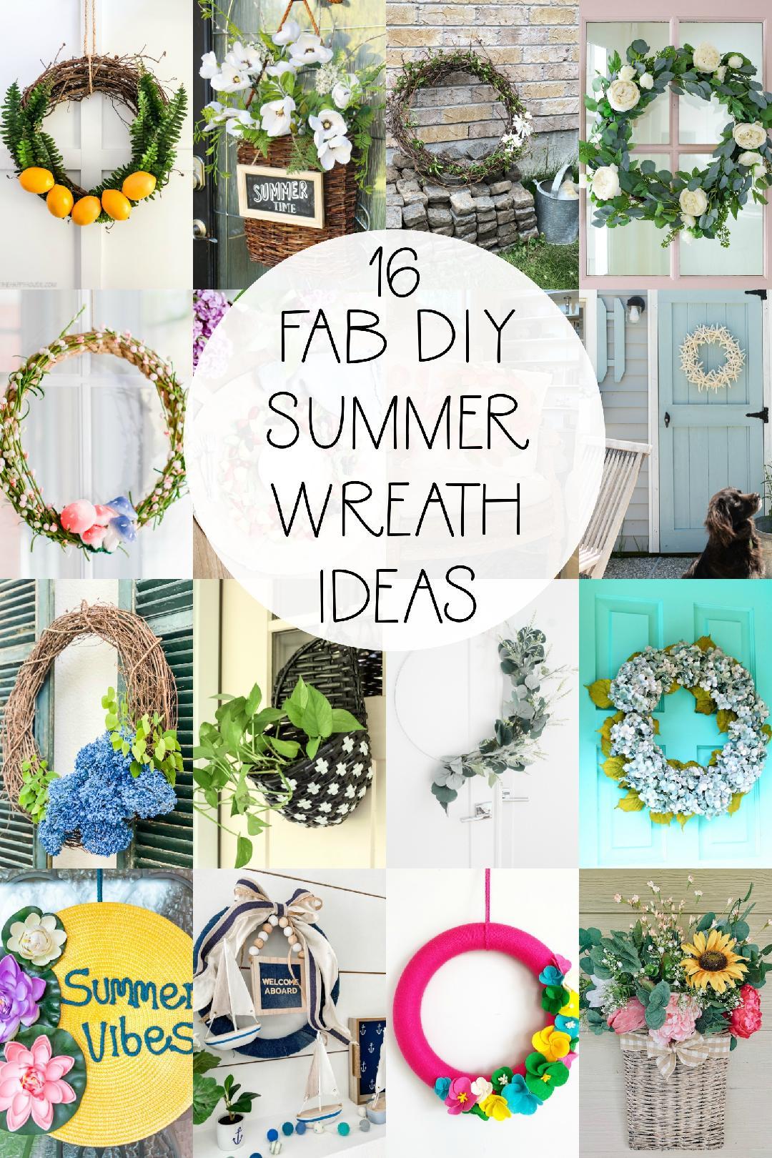 16 FAB DIY Summer Wreath Ideas to make now!
