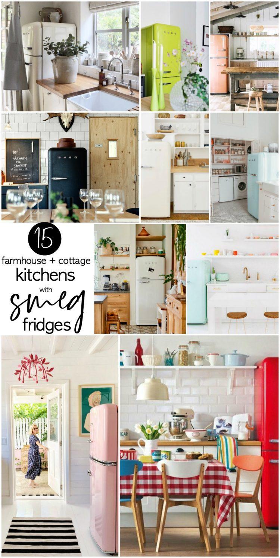 15 Farmhouse and Cottage Kitchens with Smeg Fridges