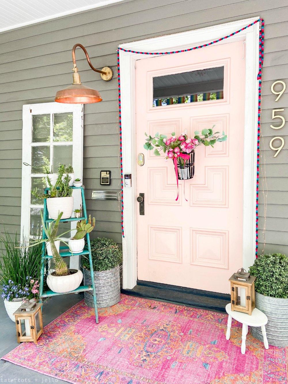Bright Bohemian porch decorating ideas