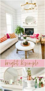 Bright and Simple Summer Mantel