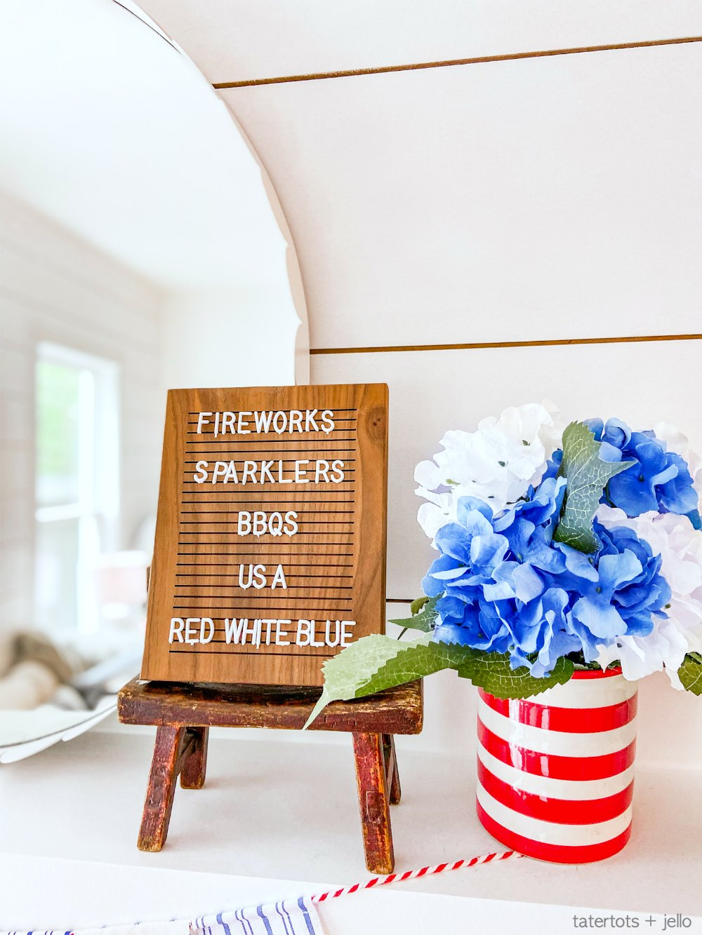 Last-Minute Fourth of July Decorating with Dollar Items. It's not too late to do some easy 4th of July decorating inexpensively with dollar items!