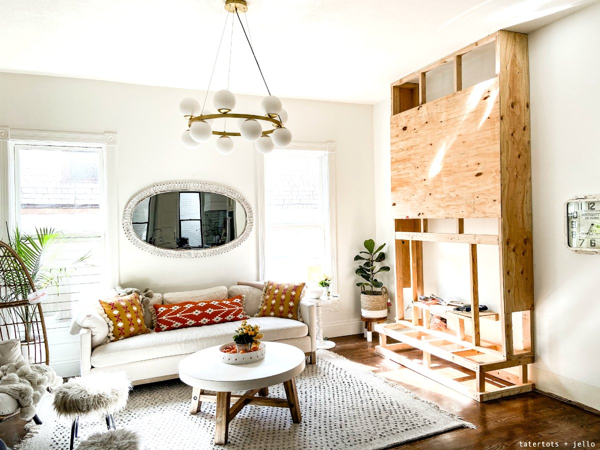 How to build a shiplap fireplace