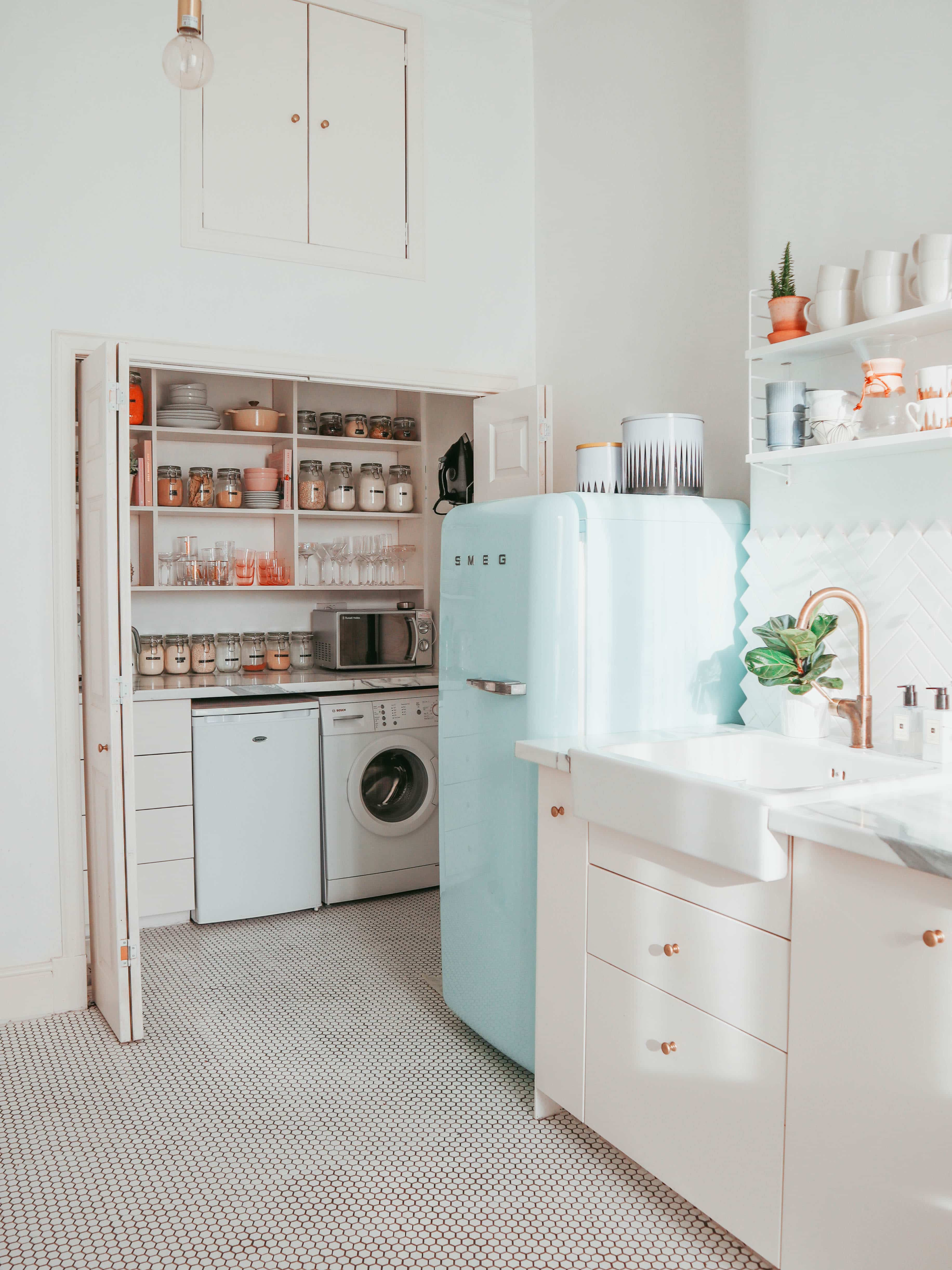 White Smeg Kitchen