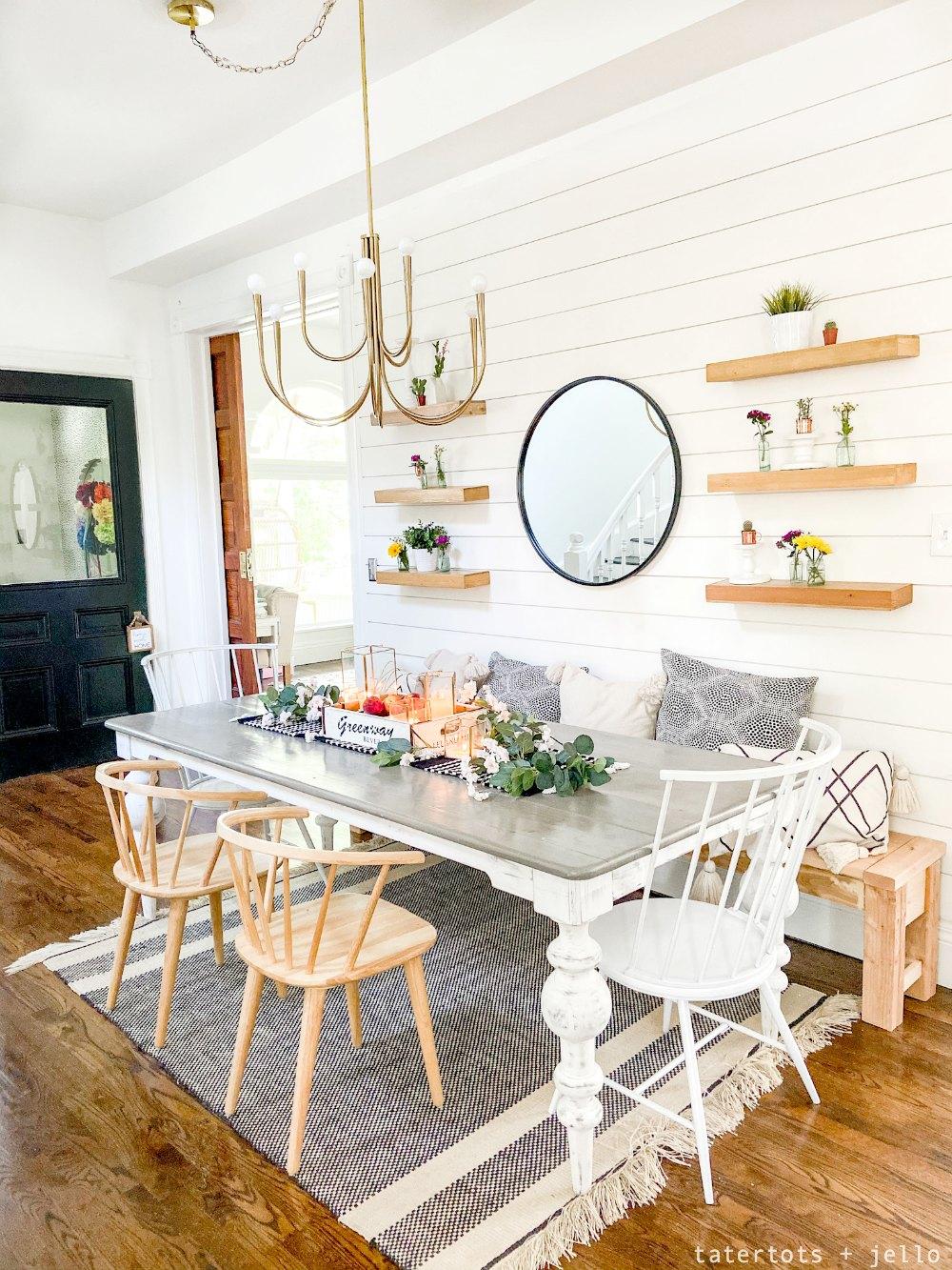cottage farmhouse dining nook ideas