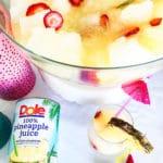 3 ingredient pineapple slushy punch
