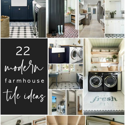22 Modern Farmhouse and Cottage Tile Ideas for Laundry Rooms