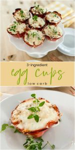 3-Ingredient Low Carb Breakfast Egg Cups