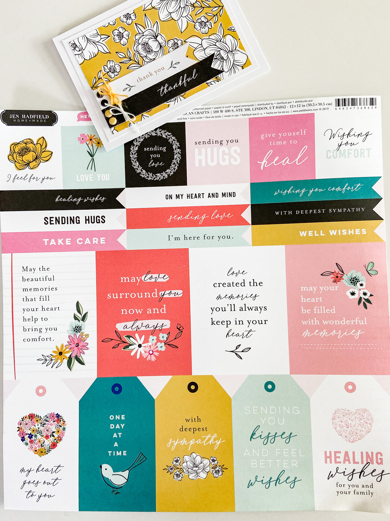 Sentiment papers have different sized sentiments , banners and tags that make creating cards super easy and fast.