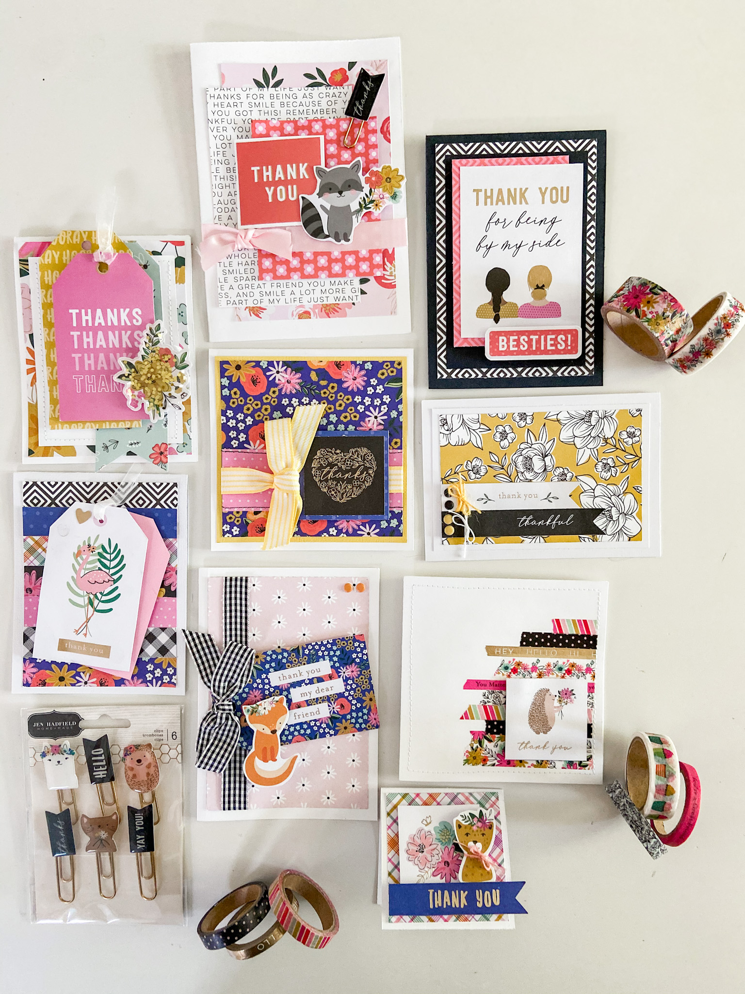 Make 9 adorable cards in under an hour! 9 cute cards with full instructions using the Hey! Hello! line now at JoAnn Stores!
