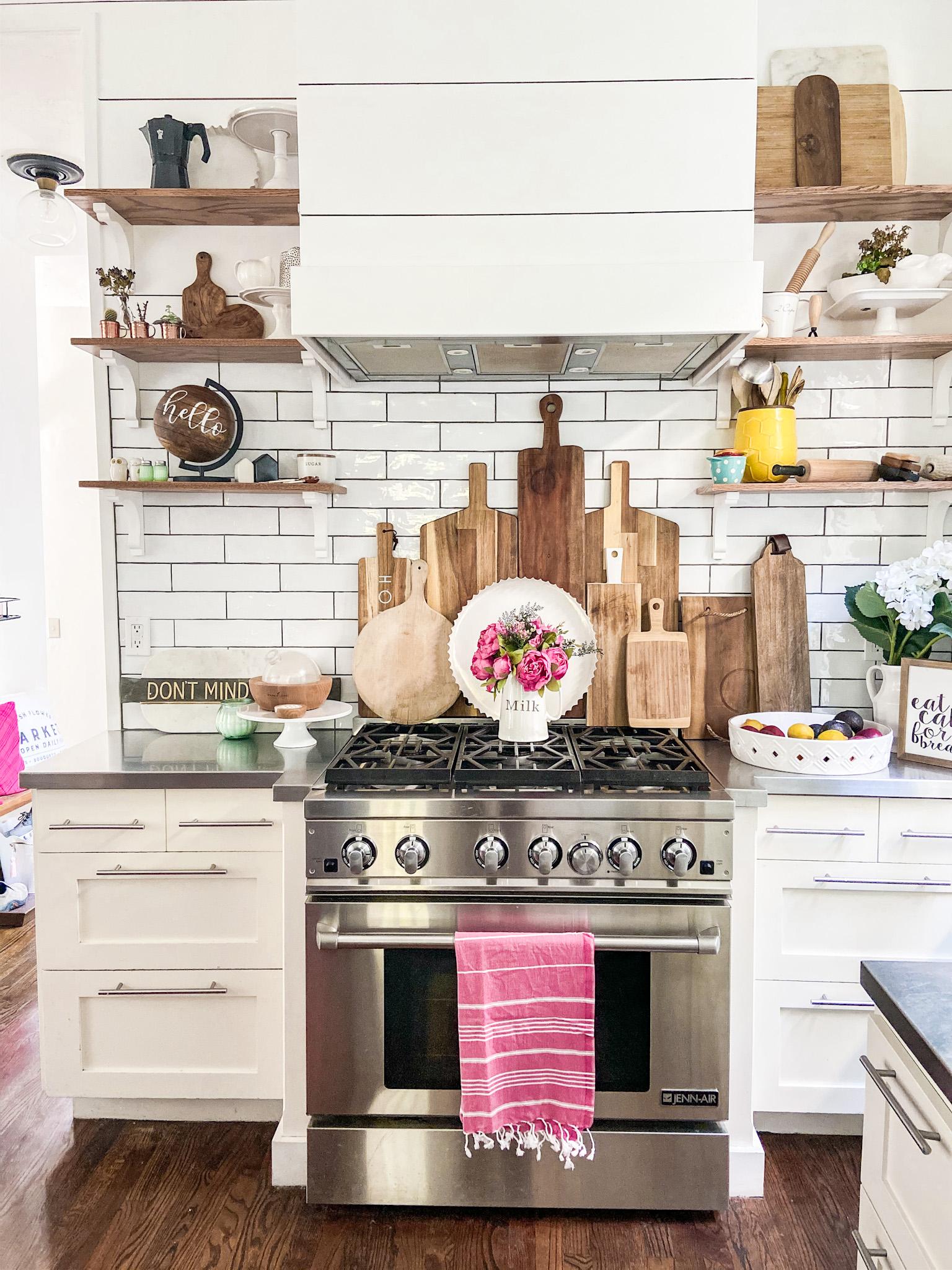 Bright Summer Boho Cottage Kitchen