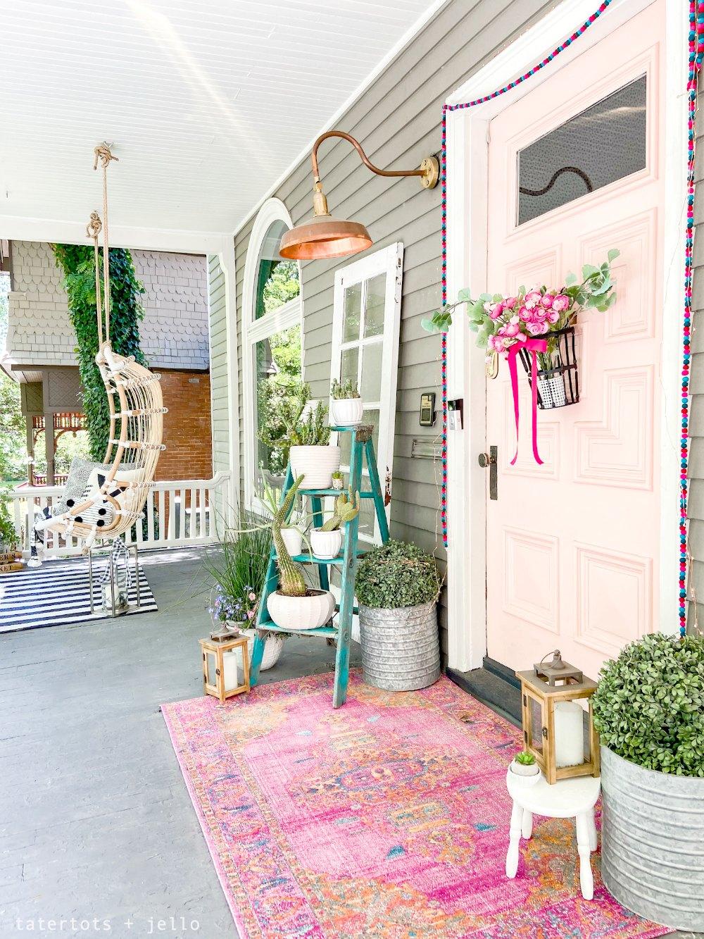 bright bohemian porch