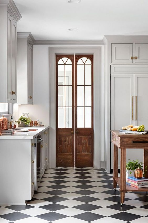Black and White Classic Checkered Floor