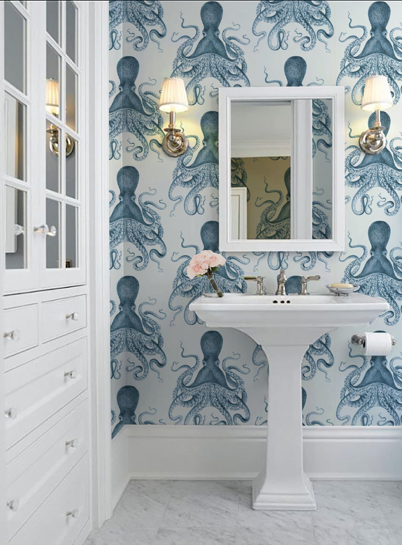 Octopus removable wallpaper from paperie on etsy