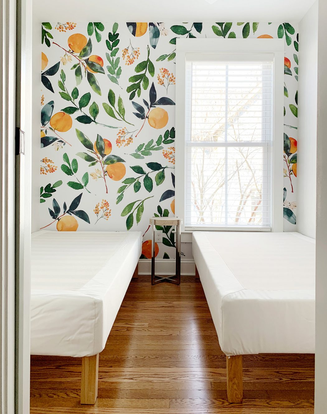 Society 6 wallpaper mural instructions via Young House Love
