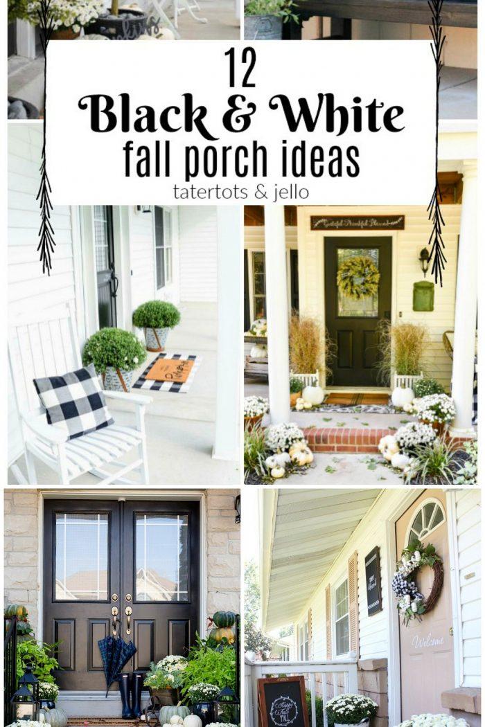 12 Black & White Fall Porch Ideas!