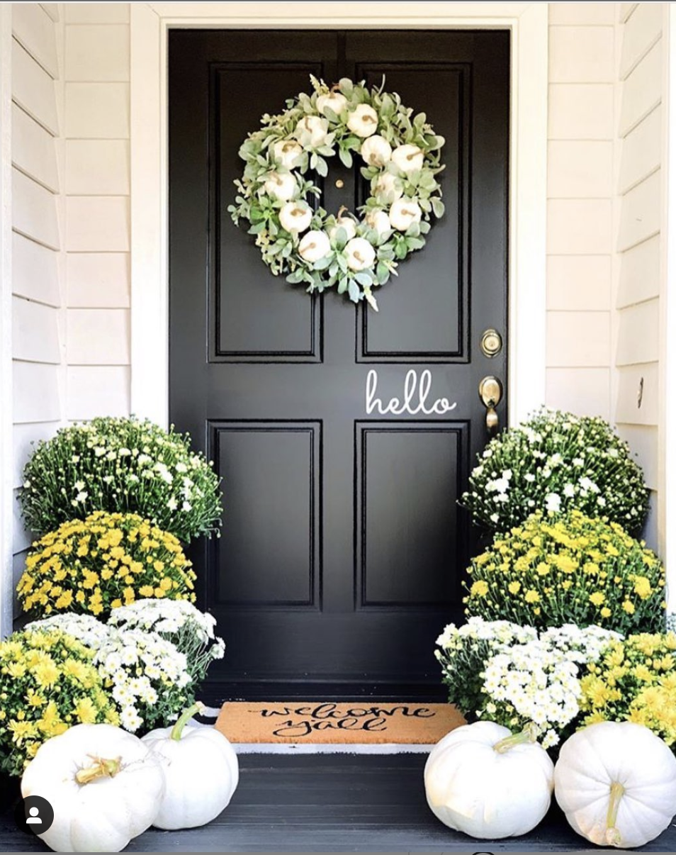 The farmhouse pages fall porch