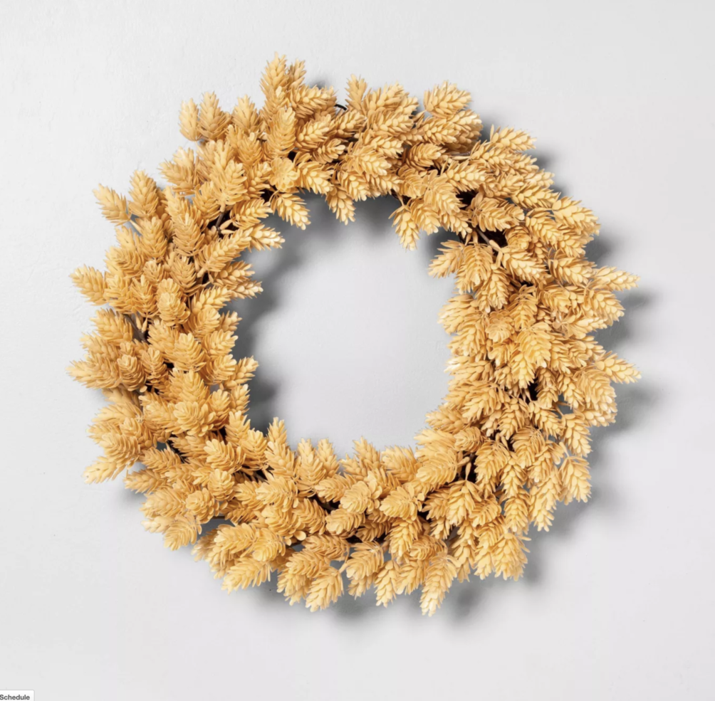 Target faux hops wreath for fall