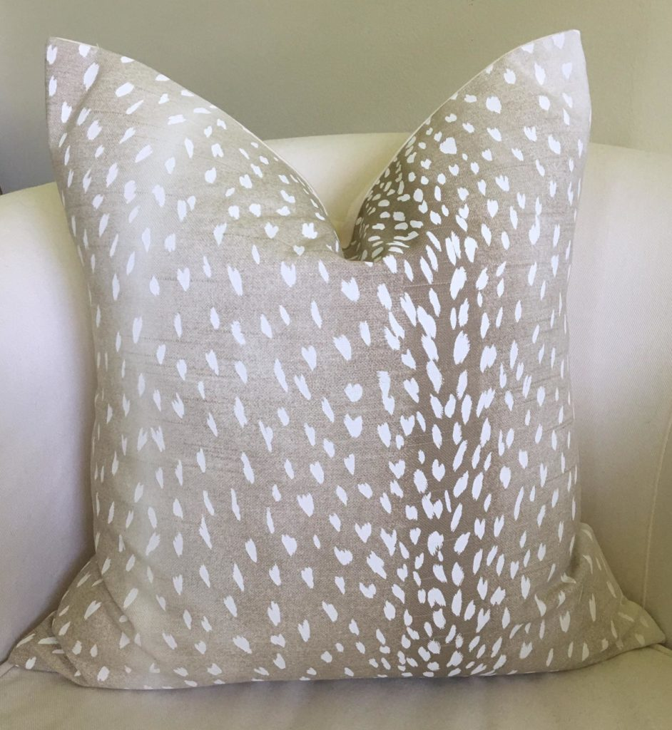 Antelope pillow cover from Nestables on etsy.