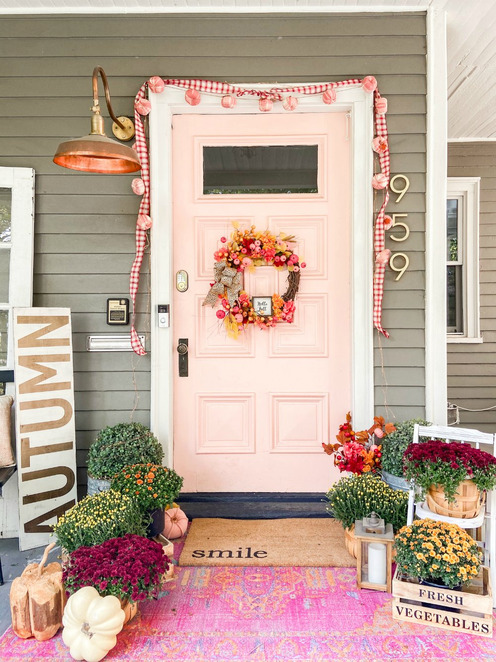 Fall Dollar Store Pumpkin Wreath. A fall wreath doesn't have to cost a lot or take a lot of time to make. Grab some dollar store pumpkins, blooms and get started!