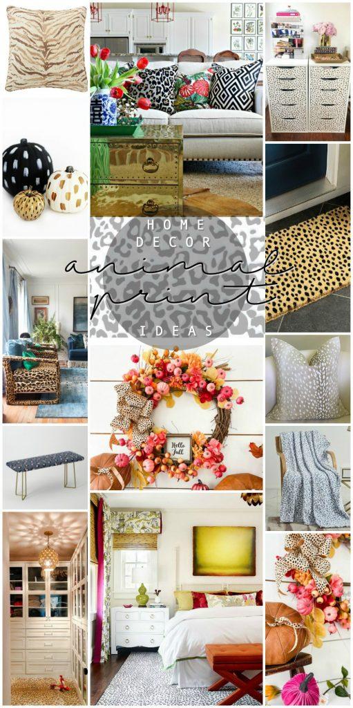 Favorite Animal Print Ideas for Fall Home Decor