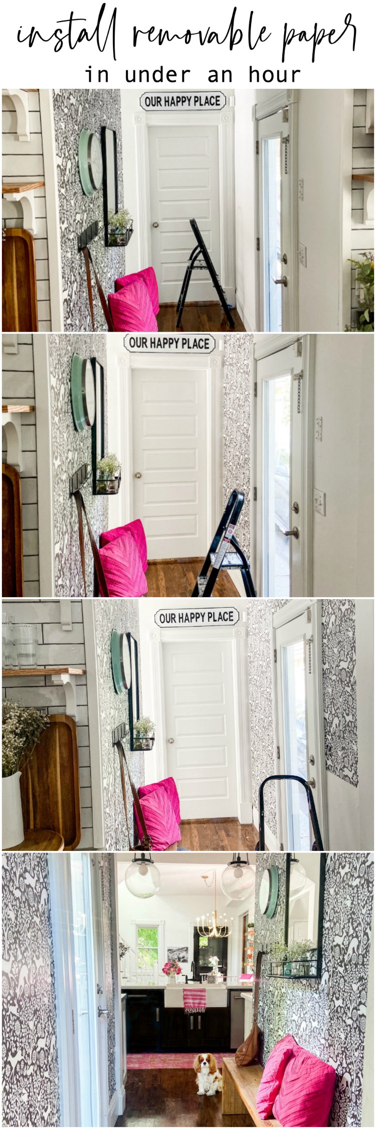 How to install removable wallpaper in under an hour