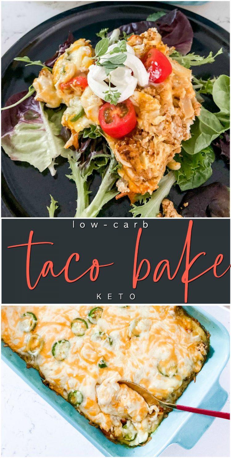 Low Carb Cheesy Taco Bake Keto Recipe