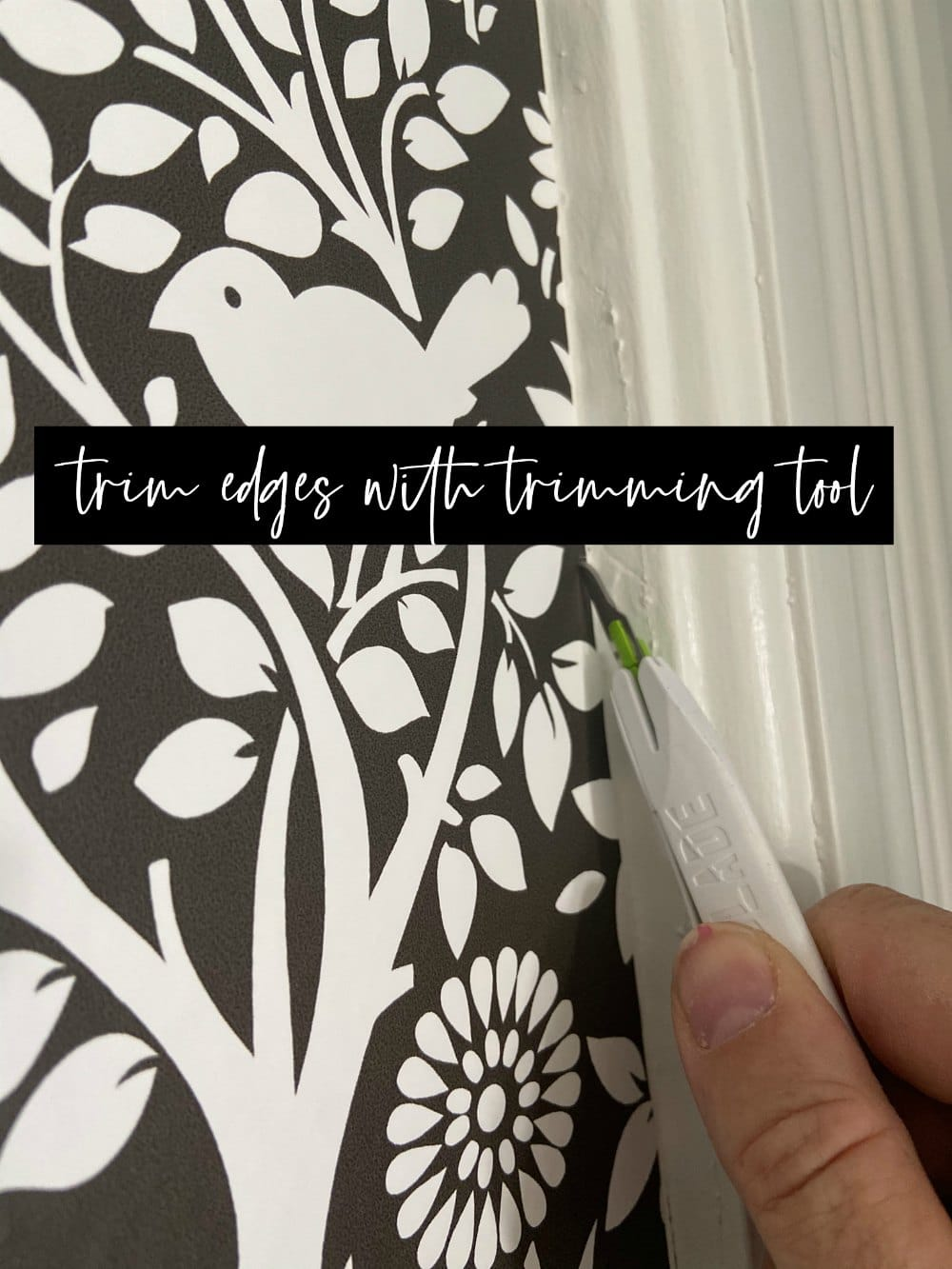 Removable Wallpaper Tips and Tricks! Transform a wall in under an hour with these easy tips and tricks!