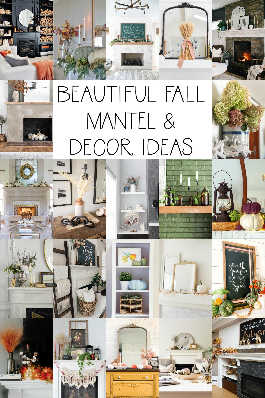 Beautiful Fall Mantel and Decor Ideas