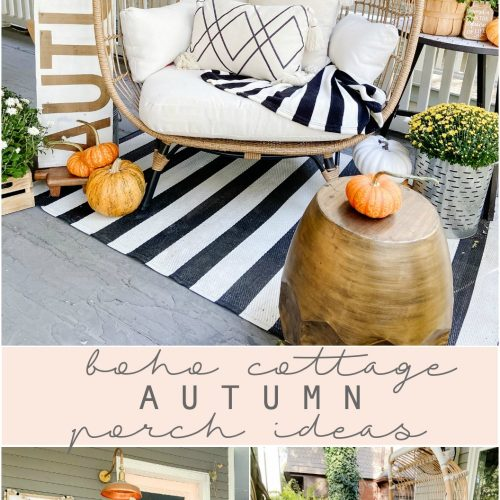 Boho Cottage Autumn Porch Ideas