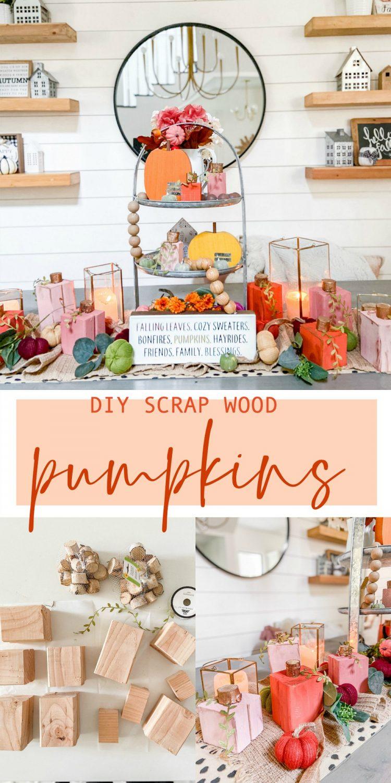DIY Scrap Wood Fall Pumpkins