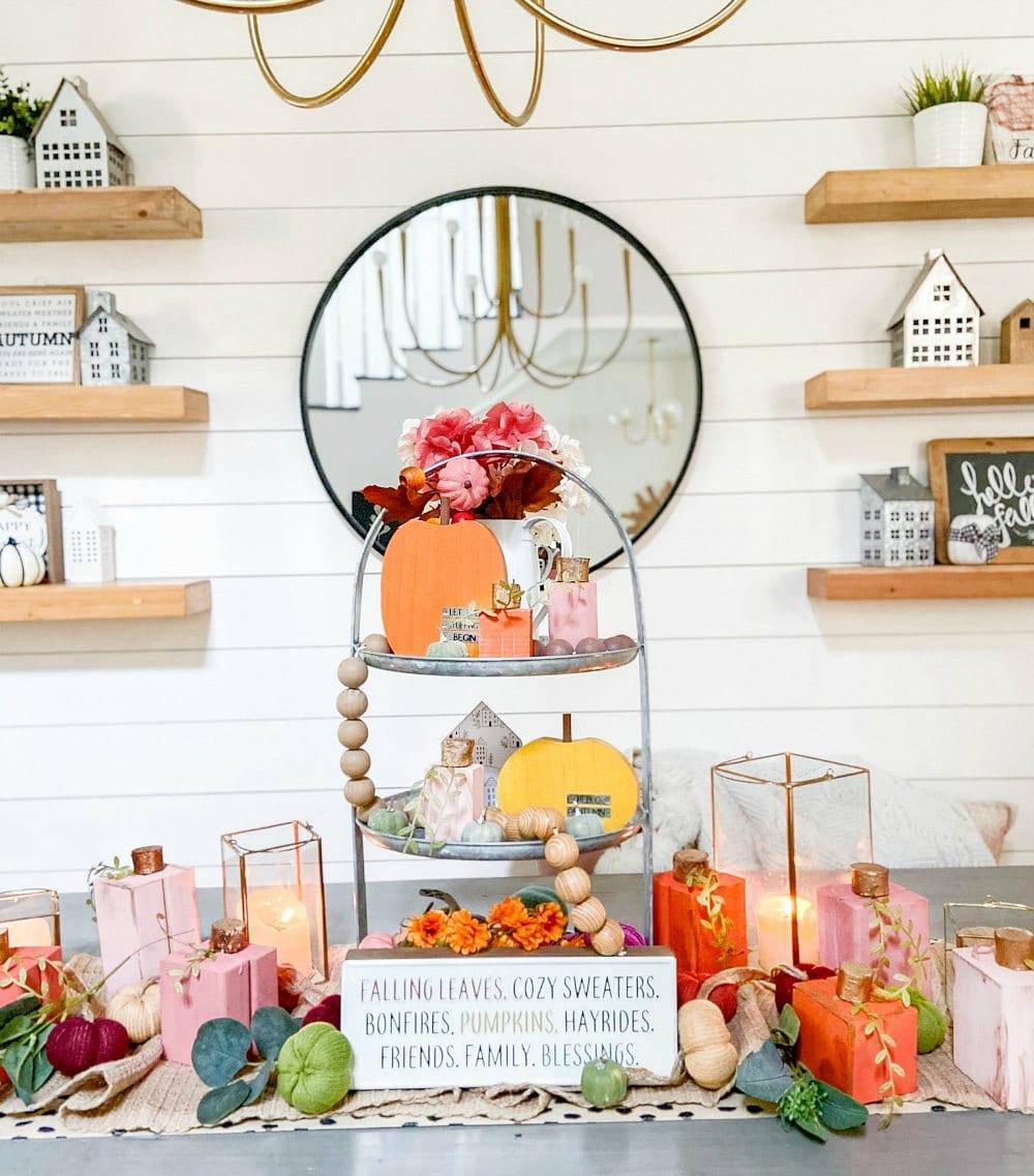 DIY Scrap Wood Fall Pumpkins. Turn pieces of leftover wood into adorable pumpkins for fall decor!