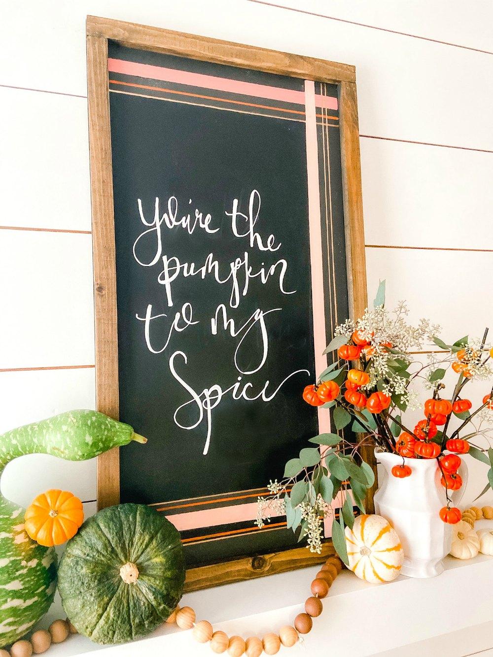 Fall Painted Chalkboard