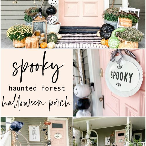 Spooky Haunted Forest Halloween Porch