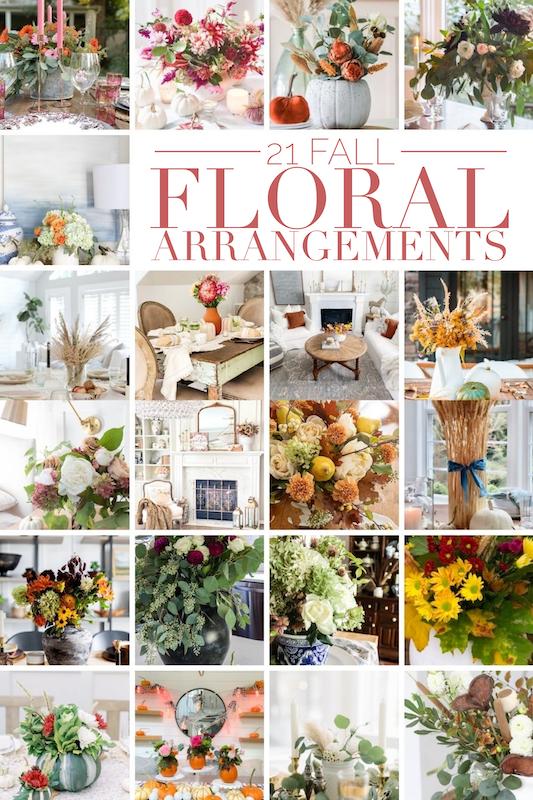 21 Fall Floral Arrangement tutorials.