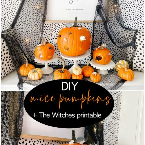DIY Mice Pumpkins and Freee The Witches Printable