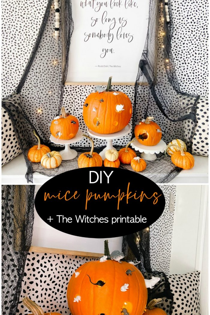 DIY The Witches Mice Pumpkins and Free Printable
