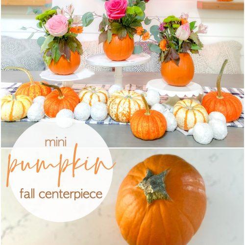 Mini Pumpkin Flower Centerpiece Ideda