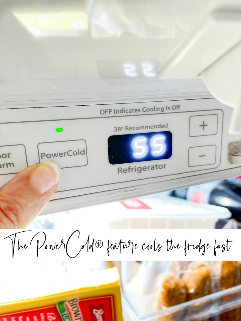 Maytag PowerCold feature cools the fridge fast.