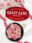 Frosted Pinwheel Candy Cane Cookies