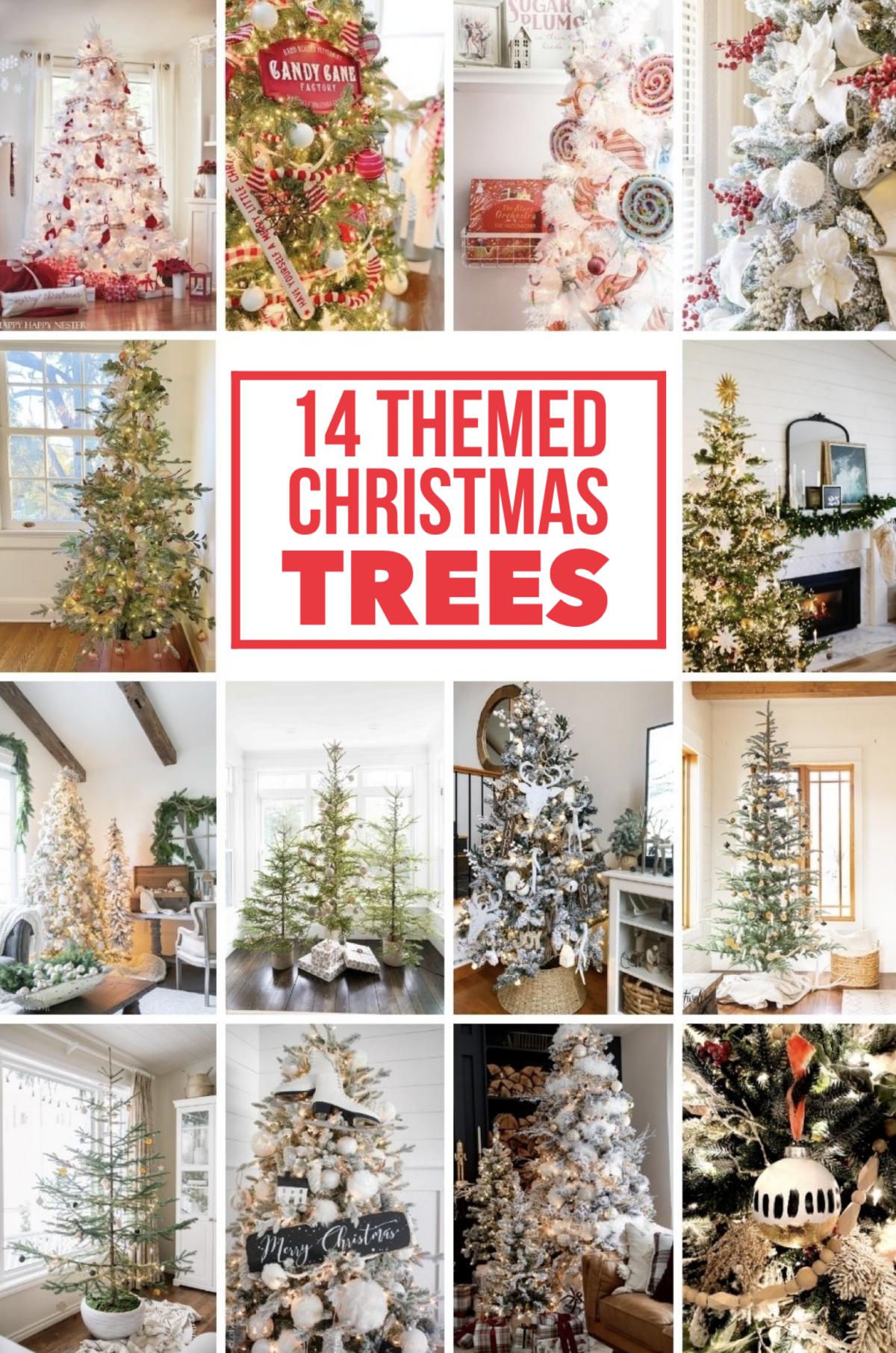 14 themed Christmas Trees