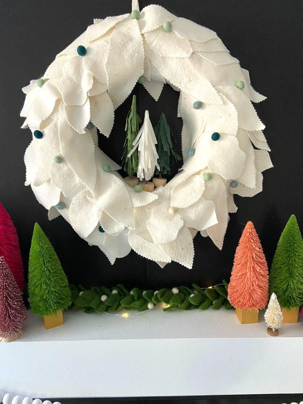 Anthropologie knock off felt flower wreath.