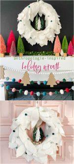 Anthropologie-Inspired Holiday Felt Wreath