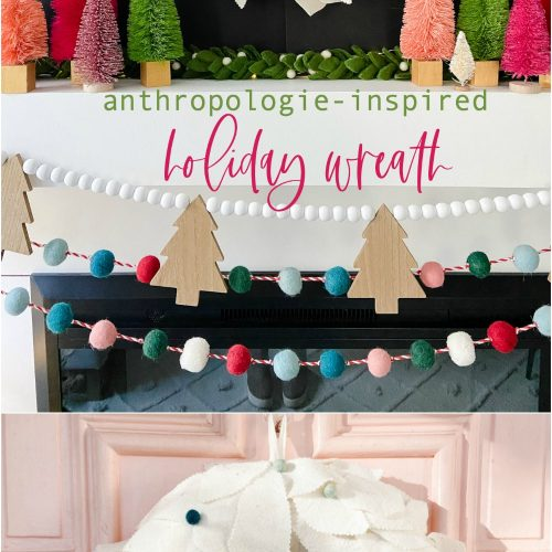 Anthropologie Inspired Felt Holday Wreath