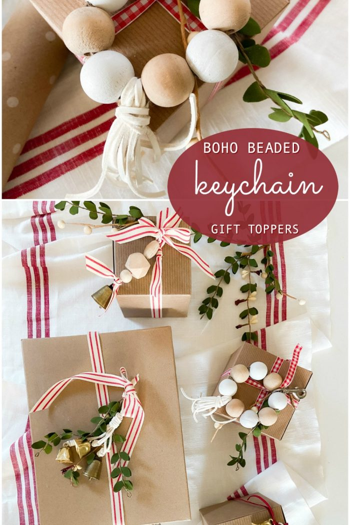 Boho Beaded Keychain Holiday Gift Toppers