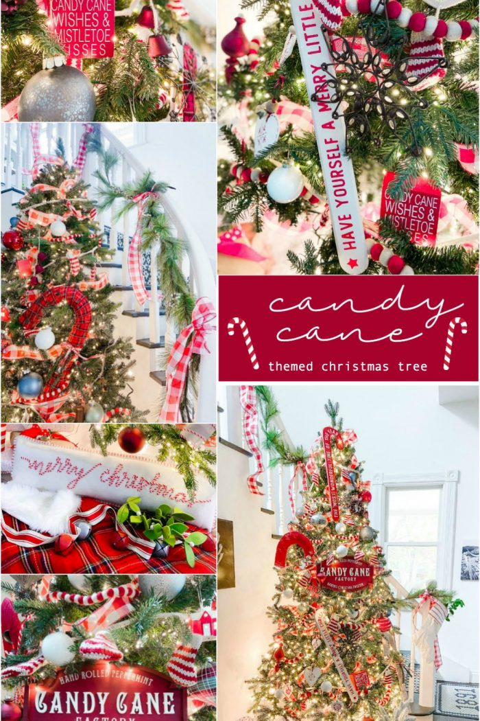 Candy Cane Themed Christmas Tree