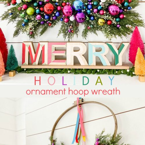 Holiday Ornament Hoop Wreath