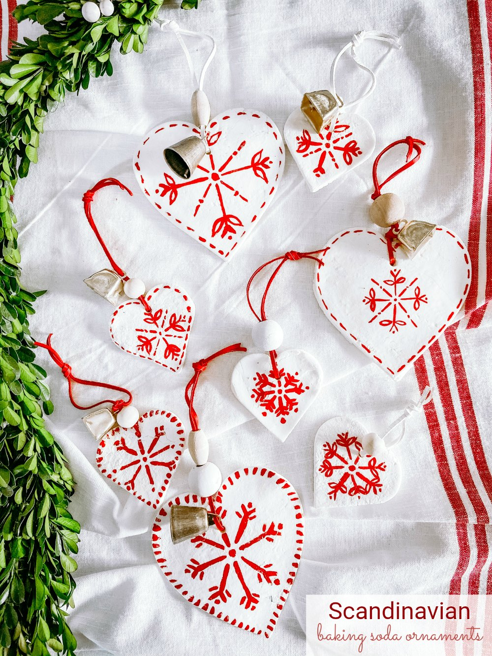 Scandinavian Baking Soda Ornaments