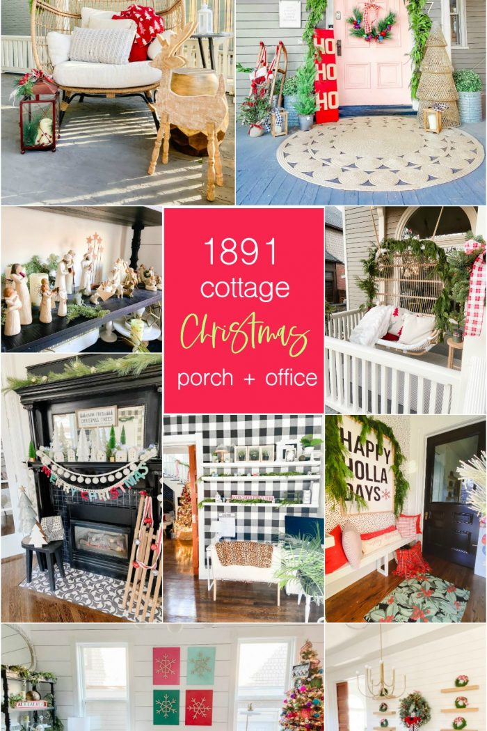 Cottage Holiday Home Tour — Front Porch and Entryway Decorating